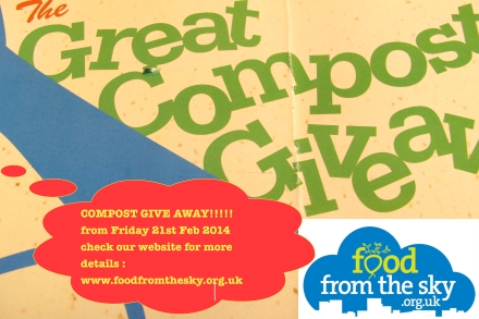 FOOD from the SKY compost give away